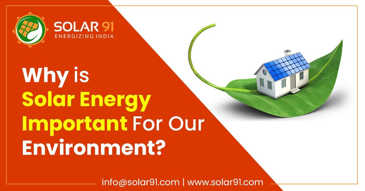 Solar Energy For Environment