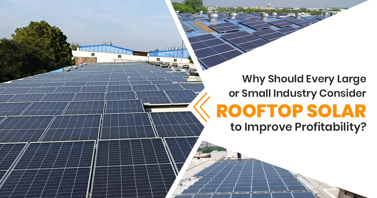 Why Should Every Large or Small Industry Consider Rooftop Solar to Improve Profitability?